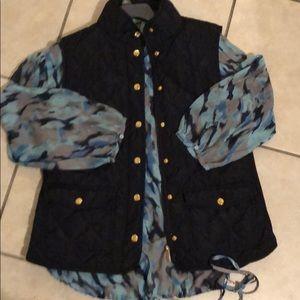 Adrienne. Vittadini large blue vest